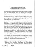 21 Temmuz 2014 Olağanüstü Genel Kurul Toplantı Tutanağı