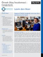 Örnek Olay İncelemesi : Levin den Boer