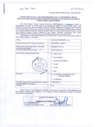 17.07.2014-18.800.000 tl-spk izin ve onaylı ihraç belgesi