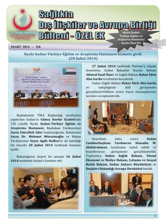 28 Şubat 2014 - Dış İlişkiler ve AB Genel Müdürlüğü