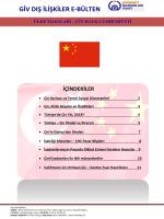 Çin Ülke Bülteni - Girişimci İşadamları Vakfı
