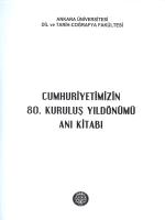 Cumhuriyetimizin 80. Kuruluş Yıldönümü Anı Kitabı