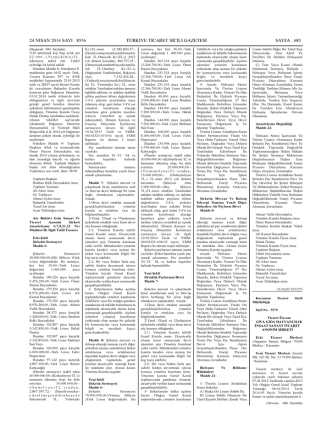 8556 türkiye ticaret sicili gazetesi sayfa : 685