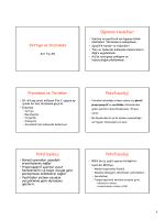 Vertigo ve Dizziness Öğrenim Hedefleri Prevelans ve Terimler