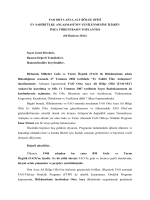 FAO ORTA ASYA ALT BÖLGE OFİSİ EV SAHİBİ ÜLKE