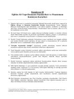 Komisyon 10 Eğitim Alt Yapı-Donanım Standartları ve Finansmanı