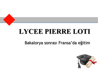 Avrupa LMD Sistemi - Lycée Français Pierre Loti