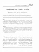 Dev Renal Anjiomyolipoma Rüptürü Rupture of Giant