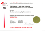 ISO 9001:2008 - izmir ege laboratuvarı