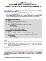 2014-2015 öğretim yılında açıköğretim, iktisat, işletme fakültelerine
