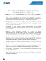 B20 AVUSTRALYA ZİRVESİNDEN G20 DEVLETLERİNİN