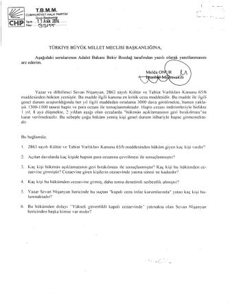arz ederim. - Türkiye Büyük Millet Meclisi