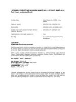 Özel Durum Açıklama Formu - 03.03.2014