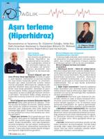 """""""Aşırı Terleme (Hiperhidroz)"""", KobiEfor Dergisi"""