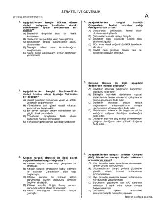 2013 Dönem Sonu İNDİR - Uzman Kariyer Yayınları