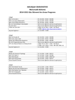 Fall 2014-15 Midterm Schedule-v1
