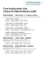 başlangıç: standart protokoller