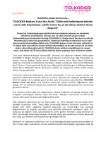 TELKODER Genel Kurulu Basın Bildirisi