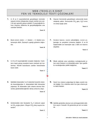 2013-2014 MEB FEN2 çözüm.qxp