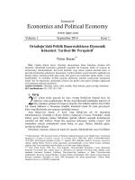 Economics and Political Economy