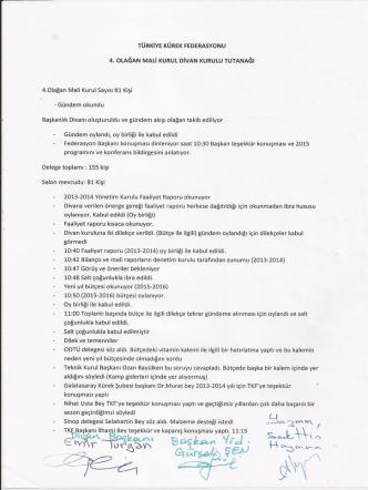 4.mali genel kurul - Türkiye Kürek Federasyonu