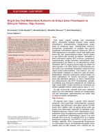 Düşük Doz Oral Metotreksat Kullanımı ile Ortaya