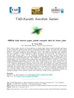 TAD-Kandilli Astrofizik Günleri