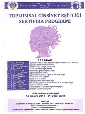 Ankara Üniversitesi Kadın Sorunları Araştırma Ve Uygulama