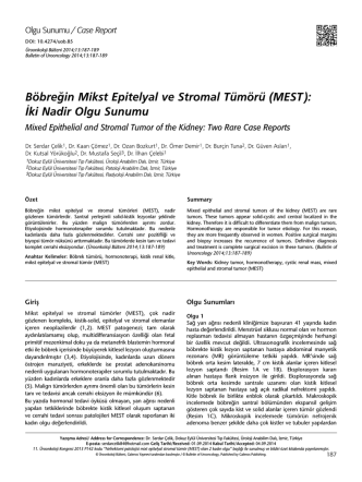 Böbreğin Mikst Epitelyal ve Stromal Tümörü (MEST): İki Nadir Olgu