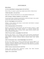 DERS İÇERİKLERİ Birinci Dönem ATA 101 Atatürk İlkeleri ve İnkılap