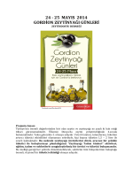 24 - 25 mayıs 2014 gordion zeytinyağı günleri