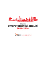 Türkiye AVM Potansiyeli Analizi Raporu 2014-2016