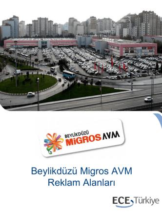 Beylikdüzü Migros AVM Reklam Alanları
