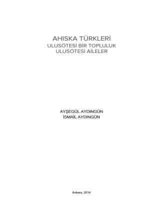 AHISKA TÜRKLERİ - Ahmet Yesevi Üniversitesi
