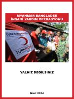 myanmar-bangladeş insani yardım operasyonu yalnız