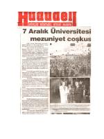 Kilis 7 Aralık Üniversitesi Mezuniyet Çoşkusu