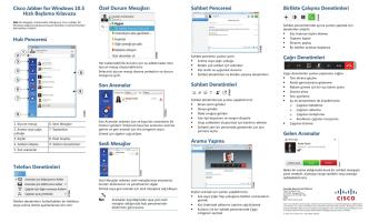Cisco Jabber for Windows 10.5 Hızlı Başlama Kılavuzu