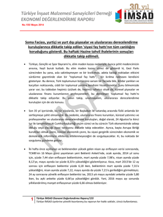 1 Türkiye İMSAD Ekonomi Değerlendirme Raporu/155