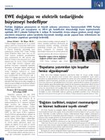 EWE doğalgaz ve elektrik tedariğinde büyümeyi hedefliyor Türkiye