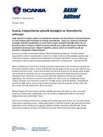 Scania, müşterilerine yönelik desteğini ve hizmetlerini arttırıyor