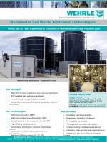 Wastewater and Waste Treatment Technologies
