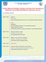 21 October 2014 - 58. Türkiye Milli Pediatri Kongresi
