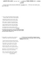 1. YAZILI SORULAR 1.Tanzimat edebiyat birinci dönemin