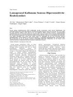 Lansaprazol Kullanımı Sonrası Hipersensitivite