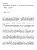 Nötrino-Nötrino Etkileşimleri Ve Yoğun Ortamlarda Çeşni Salınımları