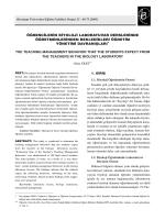 (10) G lay Ekici - Hacettepe Üniversitesi Eğitim Fakültesi Dergisi
