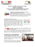 EKSPOMED 2014 ve LABTEKMED 2014 fuarları