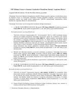 YDÜ Bilimsel Yayın ve Faaliyetleri Özendirme Desteği Uygulama