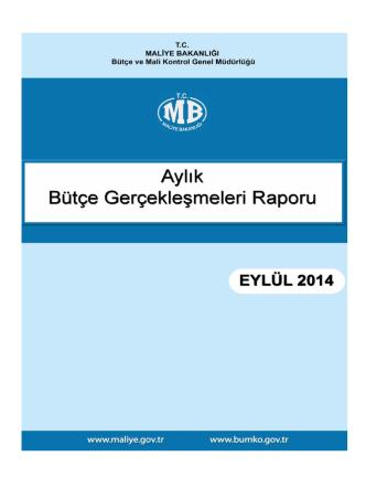 2014 Eylül Ayı Bütçe Gerçekleşmeleri Raporu