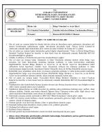 Belge Yönetimi ve Arşiv İşleri - Mühendislik Fakültesi